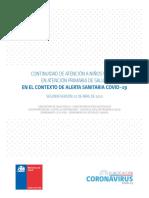 Continuidad de Atencion de NN en APS version II