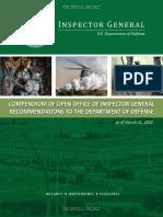2020 Defense Department Inspector General Compendium