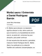 Morbo sacro | Entrevista a Daniel Rodríguez Barrón