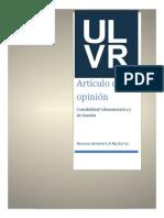 TALLER GRUPAL ARTICULO DE OPINION