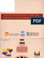 Rutas de acceso a educacion NNA Venezolanos