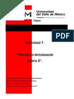 , Act 7 Proyecto integrador Etapa 3 -ZCFT