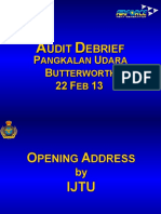22 FEB 13- Pasca Audit Brief PU BWTH - 2053 - MEJ FAZRUL.ppt