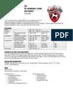 Player Info Sheet YDA PDF