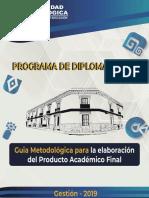Guía Metodológica para la elaboración del Producto Académico Final (PAF)