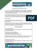 actividad 6 Evidencia 8_Análisis de caso_Identificación de modos y medios de transporte_