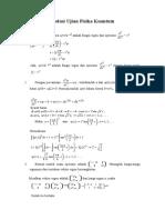 Solusi Ujian Fisika Kuantum