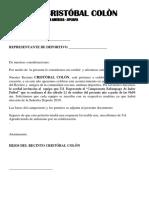 CAMPEONATO CRISTOBAL COLON 2019 2
