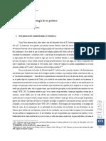 Artículo Para una fenomenología de lo político