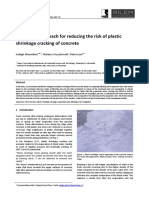 A practical approach for reducing the risk of plastic cracking