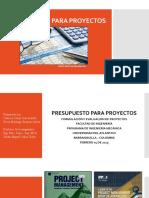 Presupuesto para proyectos