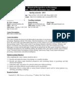 UT Dallas Syllabus for psy3360.001.11s taught by Peter Assmann (assmann)