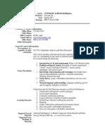 UT Dallas Syllabus for cs6364.501.11s taught by Yu Chung Ng (ycn041000)