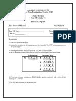 7 class VII paper I
