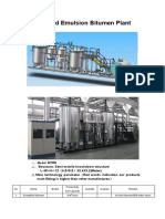 Modify Emulsified Bitumen plant