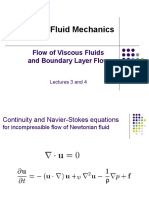 Flow of Viscous Fluids and Boundary Layer Flow