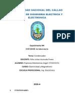 Condensadores - Espinoza Montesinos Angel