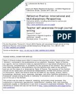 2013_Farrell_Teacher Self-Awareness Through Journal Writing