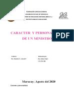 CARACTER DEL MINISTRO