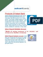 Products of Askari Bank