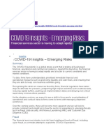 COVID-19 Insights – Emerging Risks