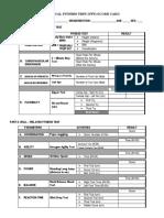 PFT Scorecard Template