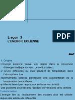 LECON 3 ENERGIE EOLIENNE