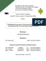 Thème. Modélisation des paramètres d une batterie Plomb-Acide, et son intégration dans un système photovoltaïque autonome..pdf