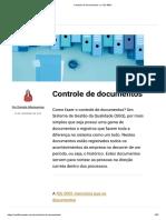 Controle de documentos e a ISO 9001