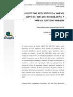 Análise dos requisitos da norma 9001-2015 em relação a norma 9001-2008