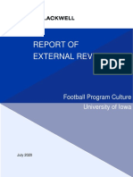 Iowa Football Overall Climate Report