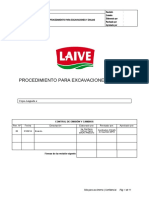 Proced. para excavaciones y zanjas