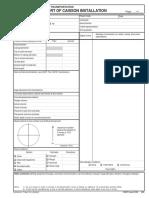 Caisson Inspection Checklist
