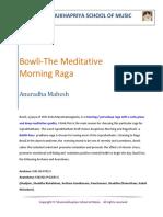 #13-Bowli-The Meditative Morning Raga