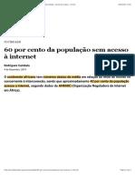 60 por cento da população sem acesso à internet   Sociedade   Jornal de Angola - Online