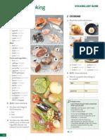 Food vocabulary homework