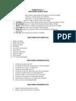 ORACIONES DUBITATIVAS, EXCLAMATIVAS, INTERROGATIVAS, DESIDERATIVAS, DECLARATIVAS