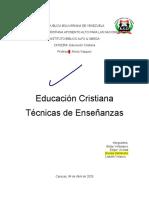 Educación Cristiana  Técnicas de Enseñanzas