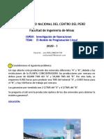 Ejercicio_Producción öptima de dos minerales