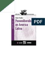 Sader Emir - Posneoliberalismo En America Latina