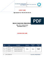 Delay Analysis Procedure - Sample