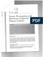 ENRON PRESENTATION AND DISCLOSURE OF SPECIAL PURPOSE ENTITIES