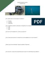 Cuestionario plásticos