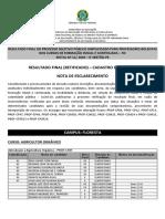 RETIFICADO RESULTADO FINAL -EDITAL 11-2020