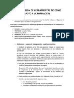 INCORPORACION DE HERRAMIENTAS TIC COMO APOYO A LA FORMACION
