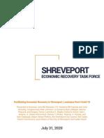 Shreveport Economic Recovery Task Force plan