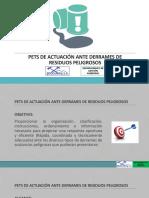 PETS DE ACTUACIÓN ANTE DERRAMES DE RESIDUOS PELIGROSOS