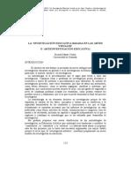 """MARÍN Viadel, Ricardo. (2005) """"La Investigación Educativa basada en las Artes Visuales o ArteInvestigación Educativa."""""""