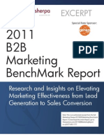 2011 B2B Marketing Benchmark Report (Excerpt)