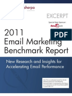 2011 Email Marketing Benchmark Report (Excerpt)